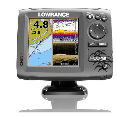 LOWRANCE HOOK 5 MID/HIGH/DOWNSCAN INCL NZ CHART