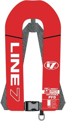 LINE 7 INFLATABLE AUTO RED