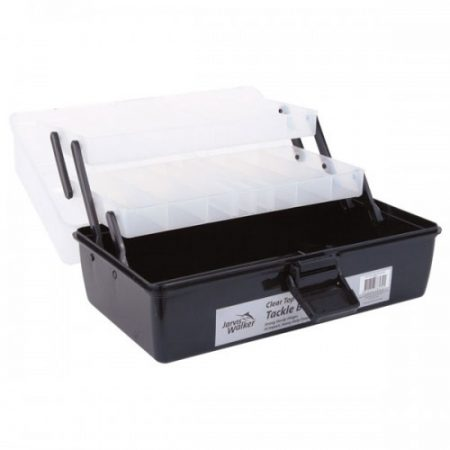 JARVIS WALKER CLEAR TOP 2 TRAY TACKLE BOX