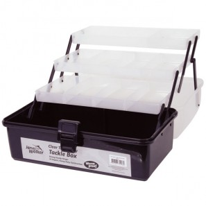 JARVIS WALKER CLEAR TOP 3 TRAY TACKLE BOX