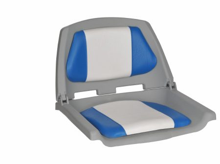 OCEANSOUTH FISHERMAN SEAT FOLDING BLUE WHITE