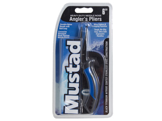 MUSTAD 6 INCH SOFT GRIP PLIER WITH RUBBER HOLSTER