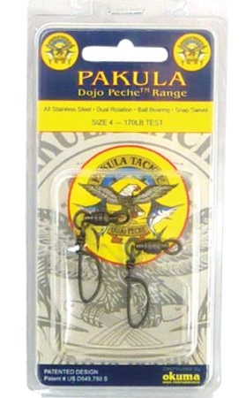PAKULA TORUNAMENT SNAP SWIVEL 320LB #6