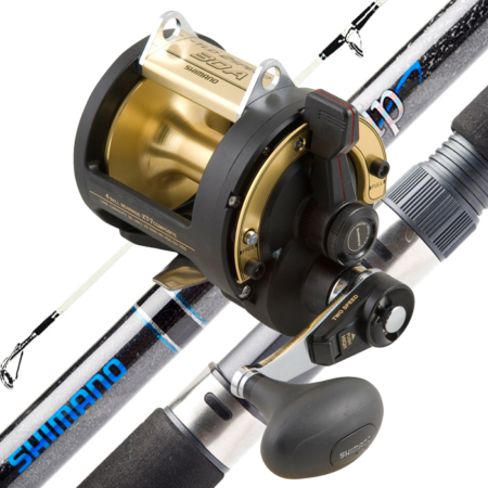 SHIMANO TLD30 2SPD & AQUATIP 24KG RT